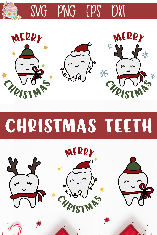 Christmas Teeth SVG Christmas Dental Designs Dental