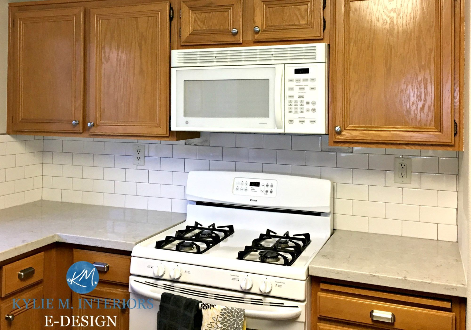 5 More Ideas Update Oak Or Wood Cabinets Without A Drop Of Paint White Kitchen Appliances Oak Kitchen Cabinets Trendy Kitchen Backsplash