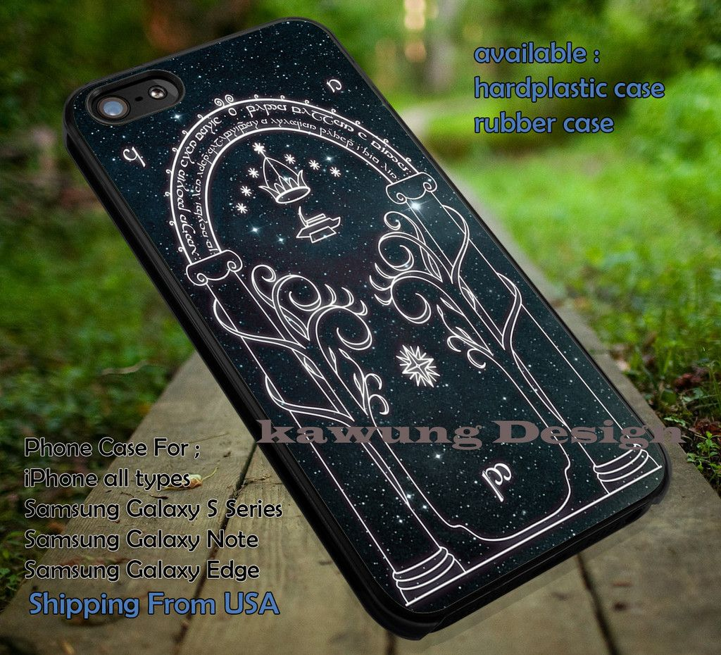 The Gate of Moria Lord of The Rings iPhone 6s 6 6s  5c 5s Cases Samsung Galaxy s5 s6 Edge  NOTE 5 4 3 #movie #TheLordofTheRings dt