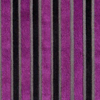 Lemon Fuchsia Geometric Velvet - Home Fabrics