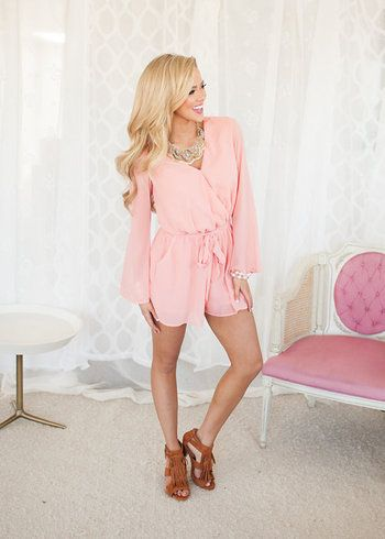 Online boutique. Best outfits. Stunning Back Lace Detail Shorts Romper in Coral - Modern Vintage Boutique