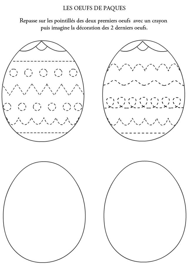 Bien connu Graphisme, les oeufs de Pâques à décorer - Turbulus, jeux gratuits  RQ18