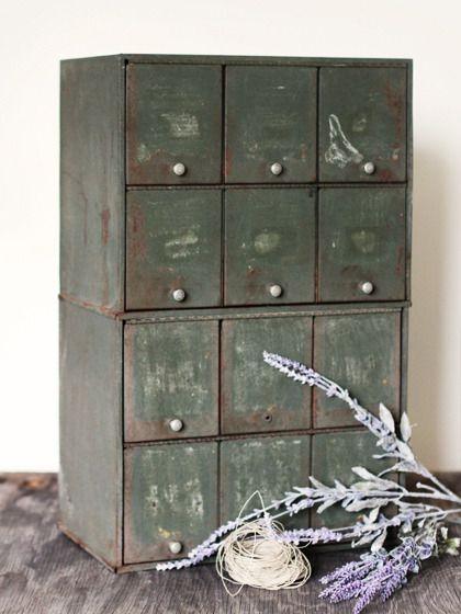 Vintage Apothecary Prescription Storage Boxes