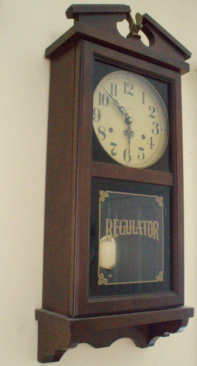 Hamilton Regulator Wall Mount 8 Day Pendulum Clock Pendulum Clock Clock Antique Clocks