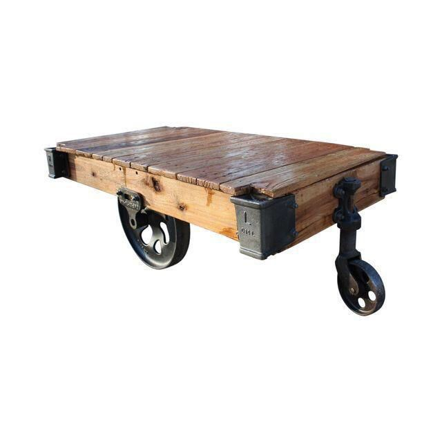 Lineberry Furniture Cart Coffee Table On Chairish Com Coffee Table Cart Coffee Table Coffee Table With Wheels