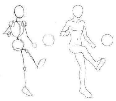 La Estructura Es Una Manera Sencilla De Comenzar A Dibujar Un Personaje A Las Estructuras Tambien Drawing People Figure Drawing Art Reference Poses