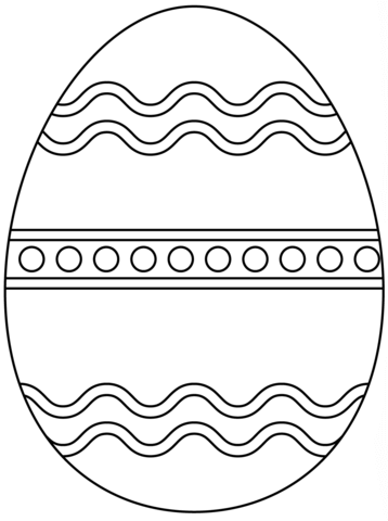 Plain Easter Egg Coloring Page From Easter Eggs Category Select From 24661 Printable Crafts O Coloring Easter Eggs Easter Egg Coloring Pages Egg Coloring Page