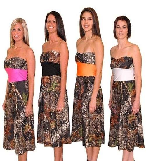 Bridesmaids Dresses In Camo