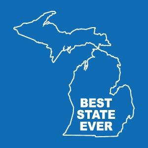 Michigan In The Best State Ever Michigan Outline Map Of
