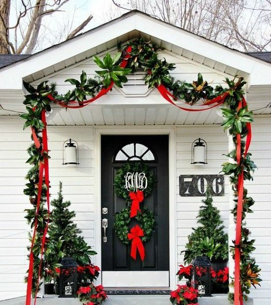 Once You Ve Trimmed The Tree Give Your Front Door A Makeover With One Of These Christmas Decorating Ideas Our Range From Traditional To Modern