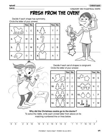 This Christmas worksheet reviews congruent and symmetrical shapes. A ...
