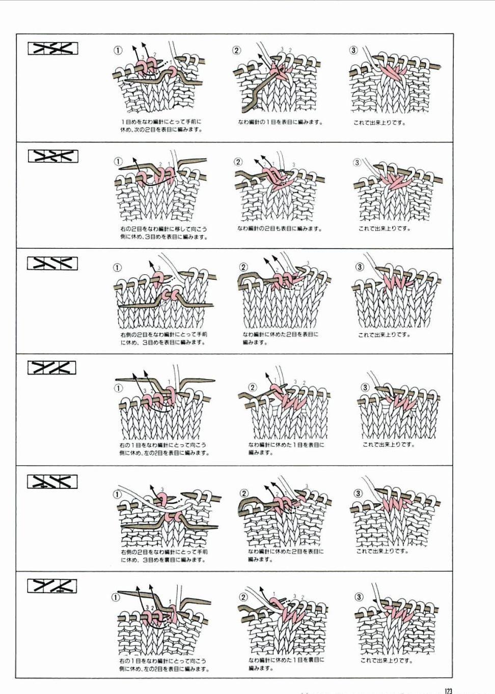 p123.JPG-trenzas. | Knitting | Pinterest | Trenza, Símbolos y Dos agujas