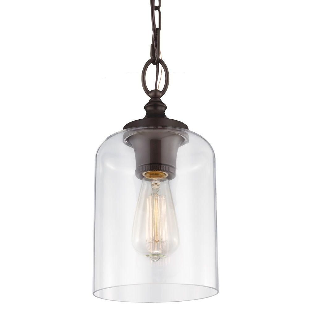 Lights Westinghouse 1 Light Oil Rubbed Bronze Adjule Mini Pendant With Hand N Clear Seeded Gl 6100800