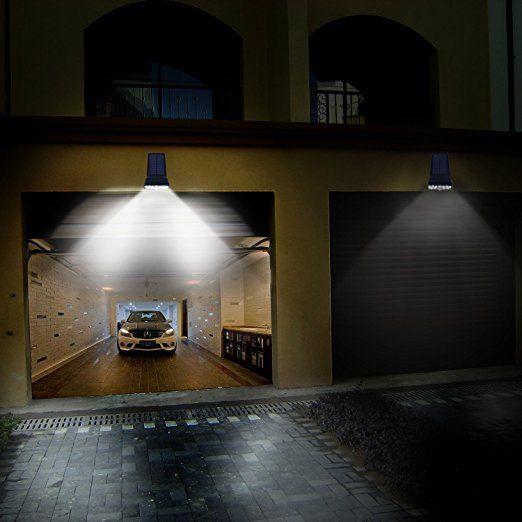 Vorally 17leds Scheinwerfer Kaltweiß Flutlicht Solar Strahler Mit