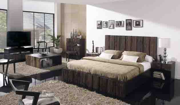 Camas de madera envejecida tahira decoracion beltran tu tienda en internet de mobilia - Decoracion beltran ...
