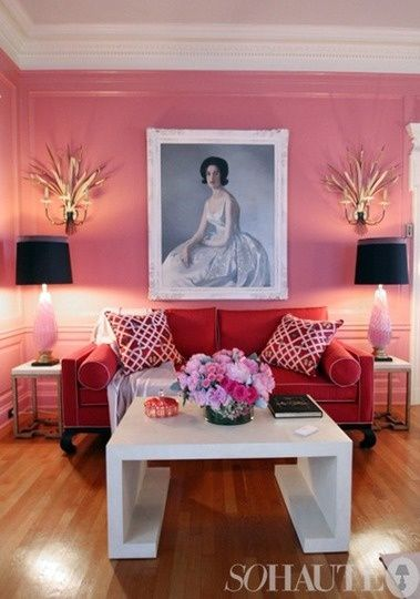 Fresh Color Combo: Pink & Red | Pinterest | Pink walls, Color combos ...