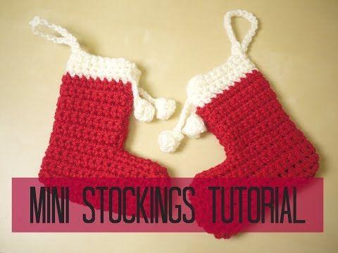 Crochet Mini Christmas Stocking Tutorial Bella Coco Youtube