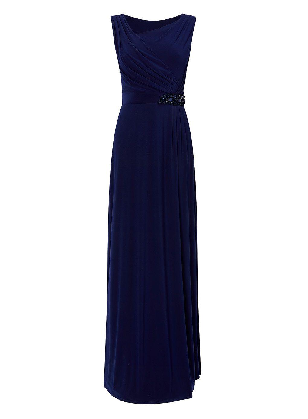 Evie Navy Long Dress - BHS