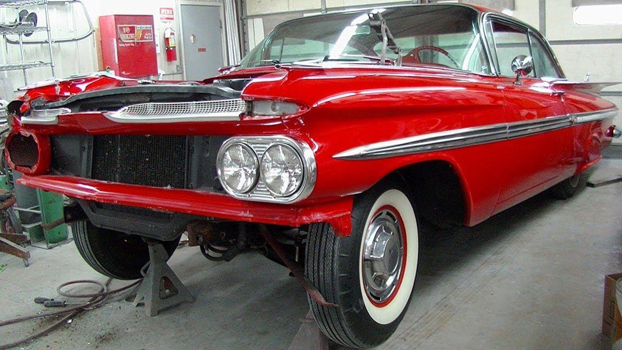 1959 Chevrolet Impala Coupe Collision Repair Chevroletclassiccars Chevrolet Impala 1959 Chevy Impala Chevy Impala