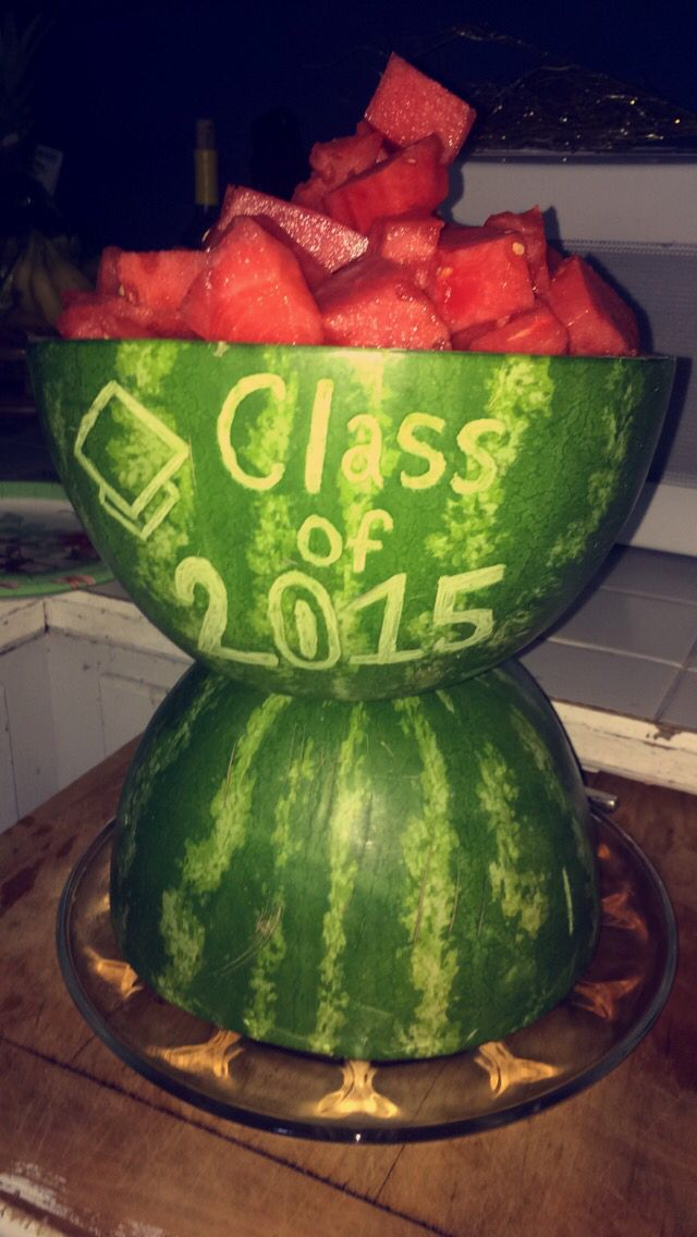 Graduation watermelon diy party carving piece | Holiday Party foods ...