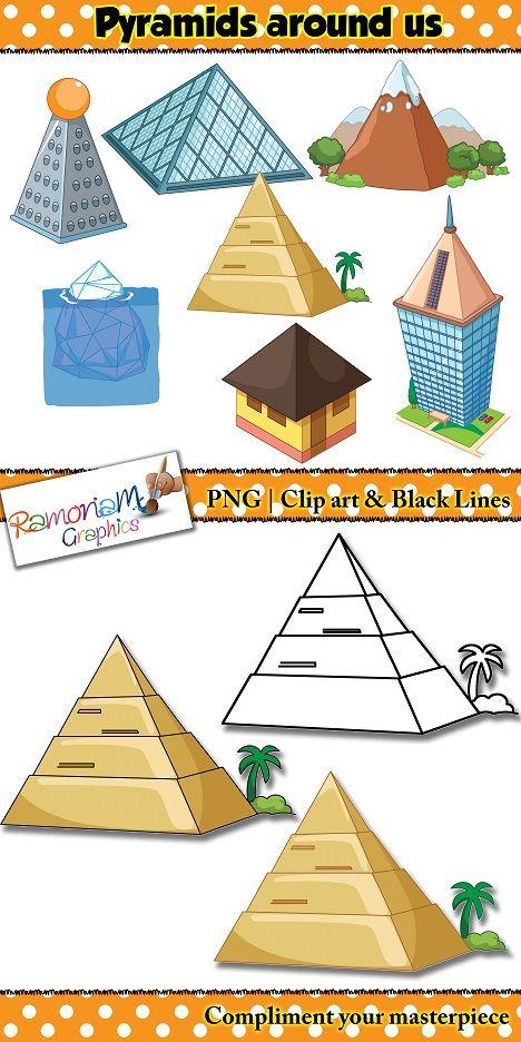Shapes 3d Pyramid Clip Art Shapes 3d Shapes Clip Art