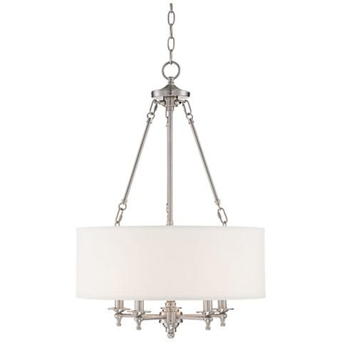 "Lamps Plus Pendant Lights Fascinating Possini Euro Kinney 19 14""w Brushed Nickel Pendant Light  Style Review"
