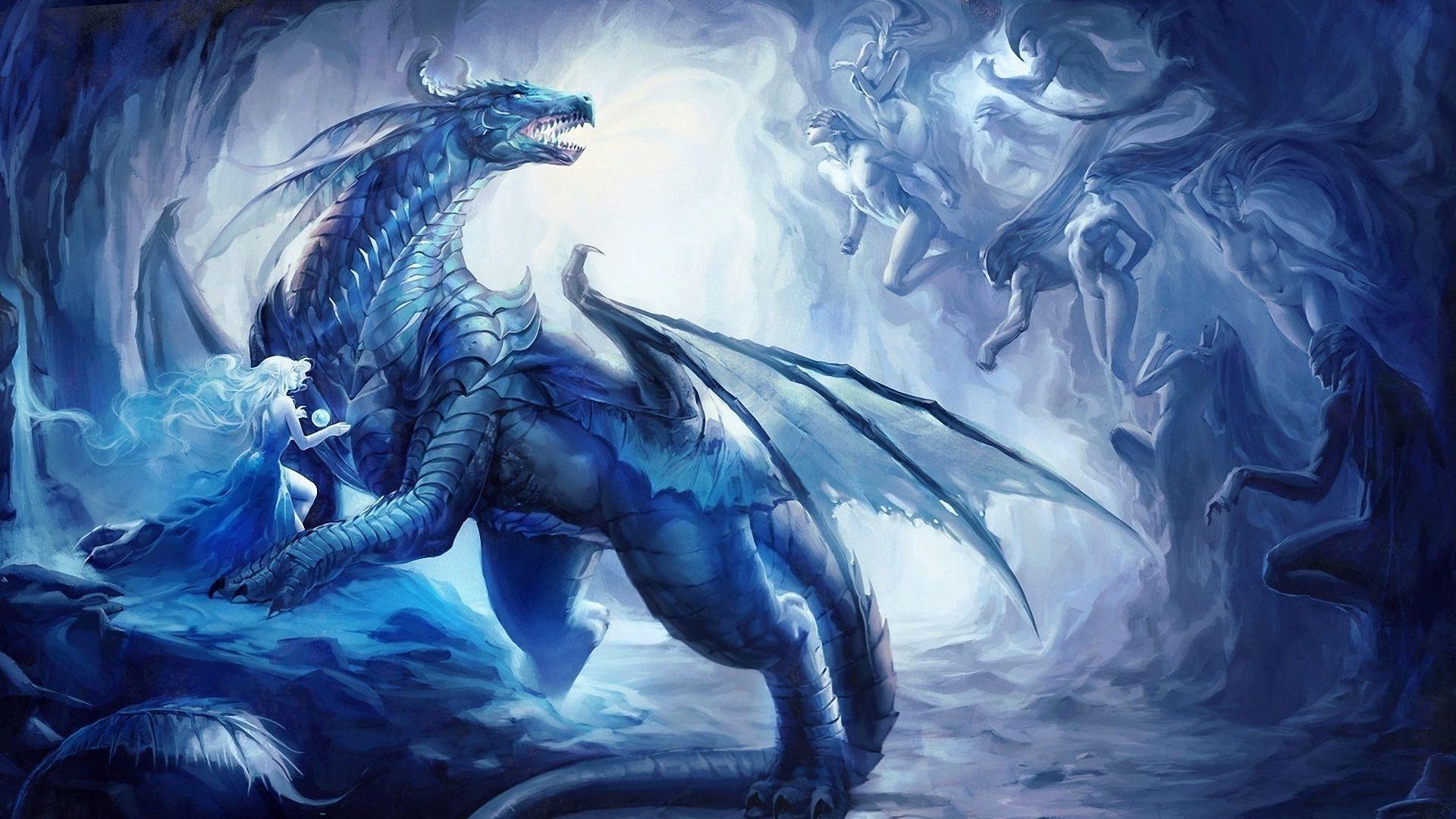 Blue Dragon Wallpaper Fantasy dragon, Dragon images