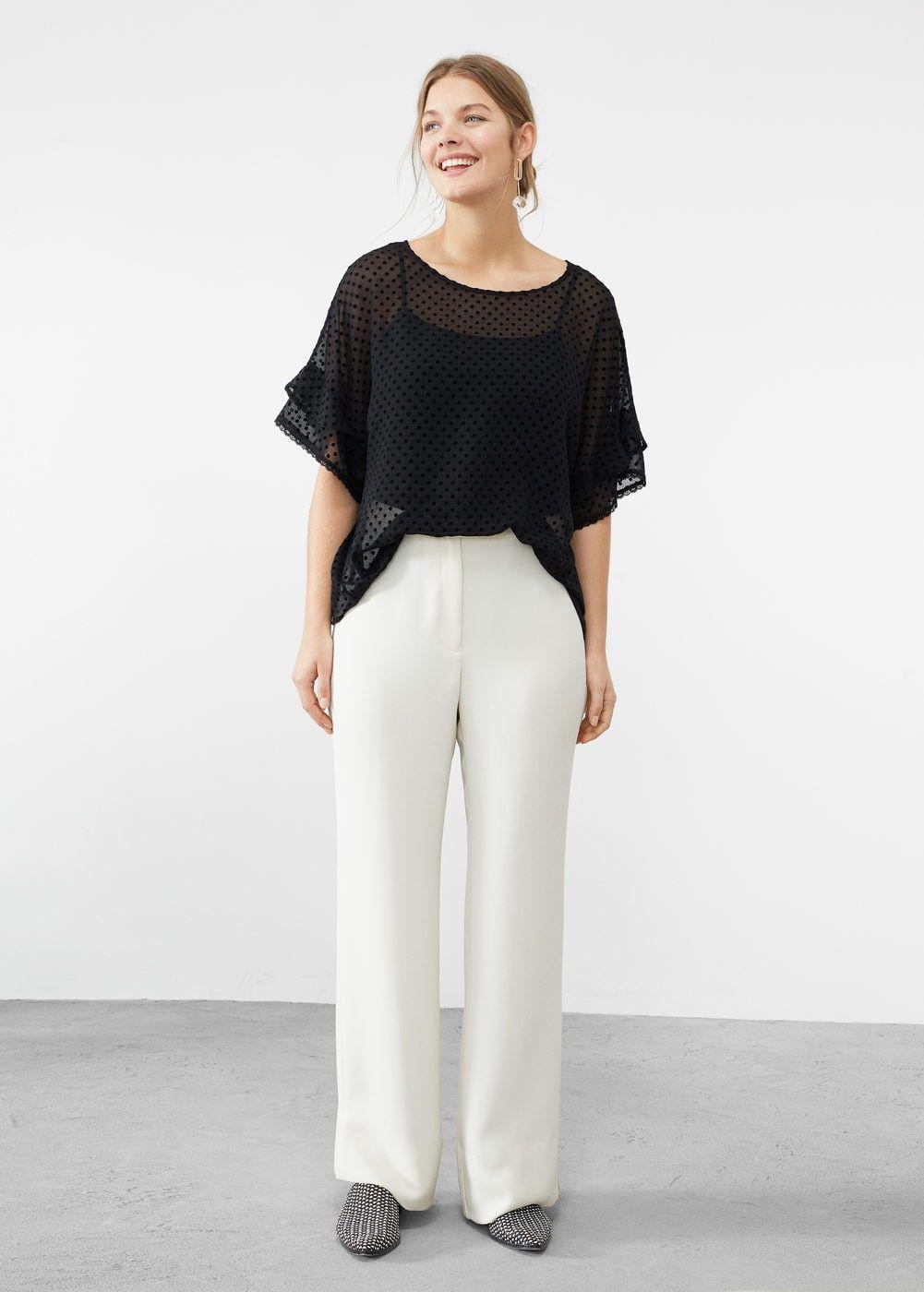 a564892dfb4 Ruffled plumeti blouse - Plus sizes