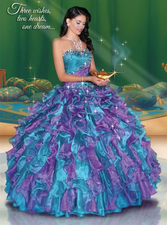 3ea2b1e17c Disney Royal Ball Quinceanera Dress Jasmine Style 41045 in 2019 ...