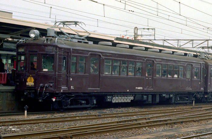 旧形国電編 40形 クモハ40073(西トタ) 1978.1.21拝島 1980.12.15付廃車(西・豊田電車区)