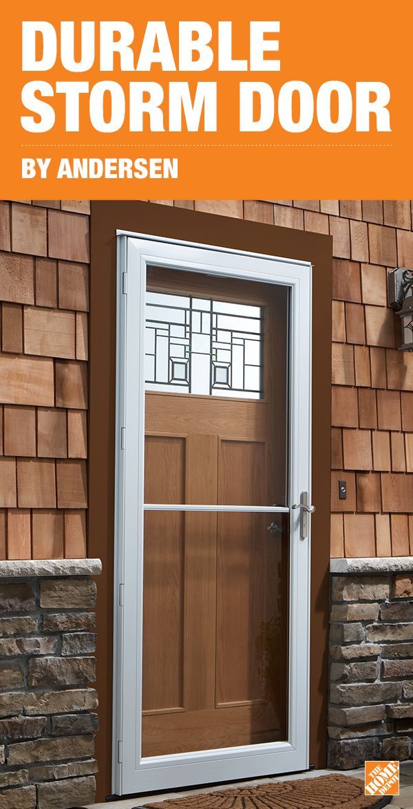 With The Easy To Install Andersen 3000 Storm Doors You Can Protect Your Entryway In Just One Afternoon These Durable Energy Eff Home Storm Door Home Repairs