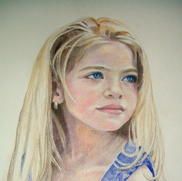 Sample Color Pencil Drawing Emily Color Pencil Art Colored