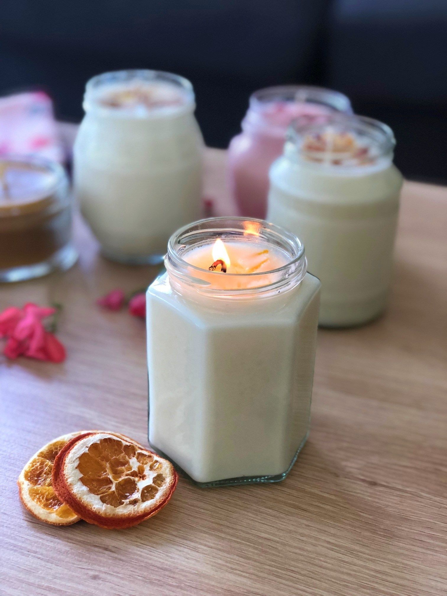 Homemade Scented Candles Home Grown Happiness Homemade