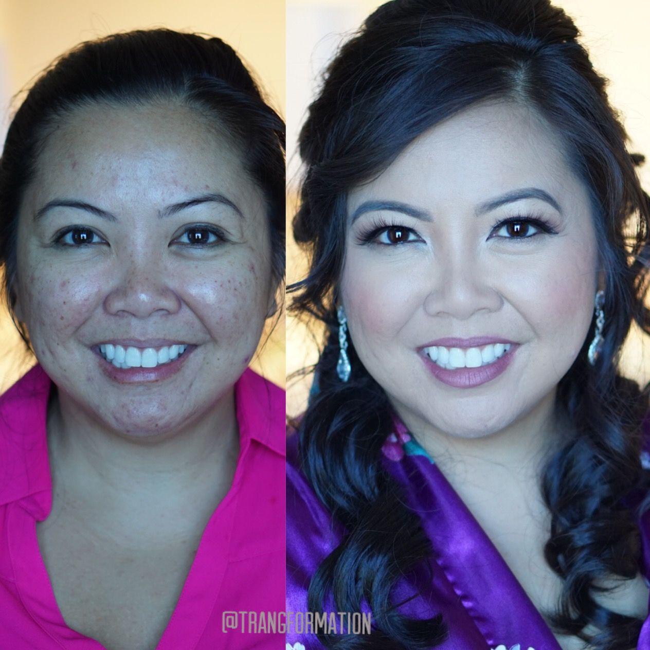 Makeup, before and after, bridal makeup, oc makeup artist