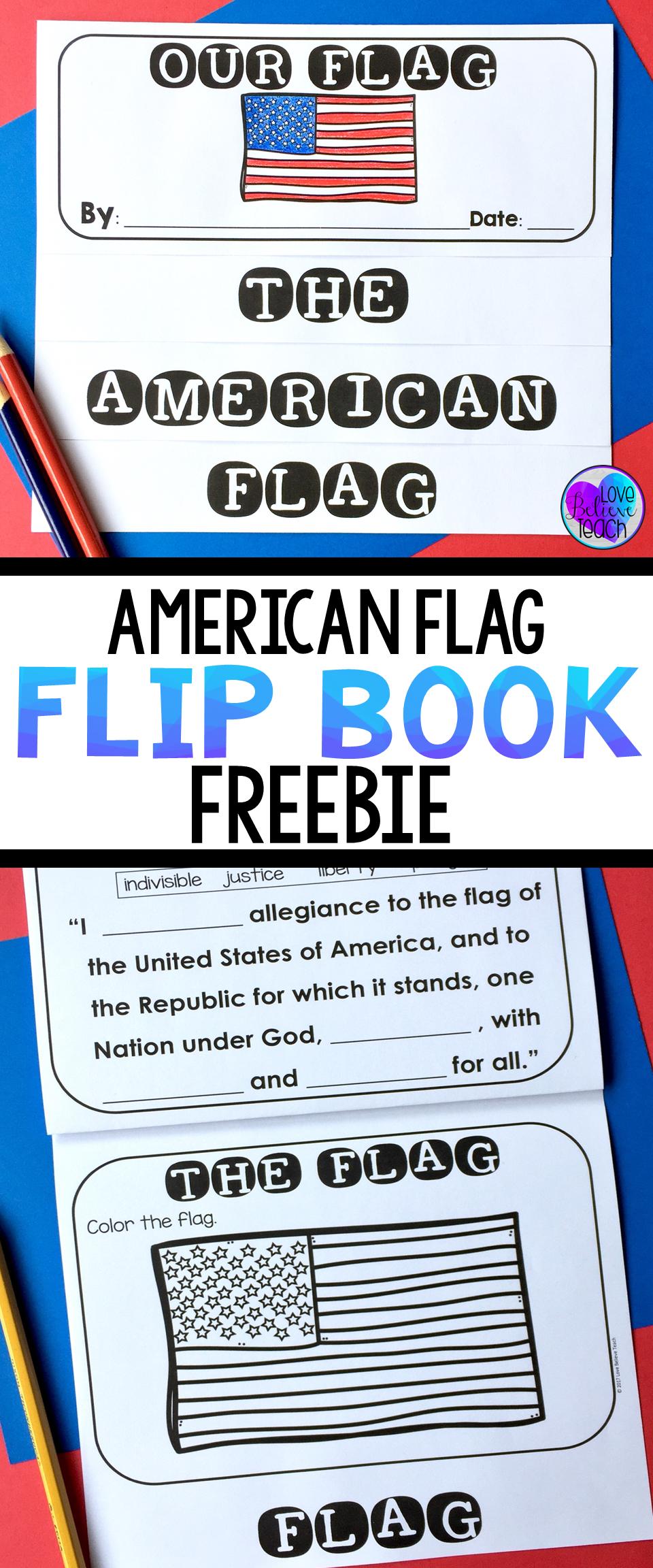 American Flag Flip Book Freebie Social Studies Pinterest