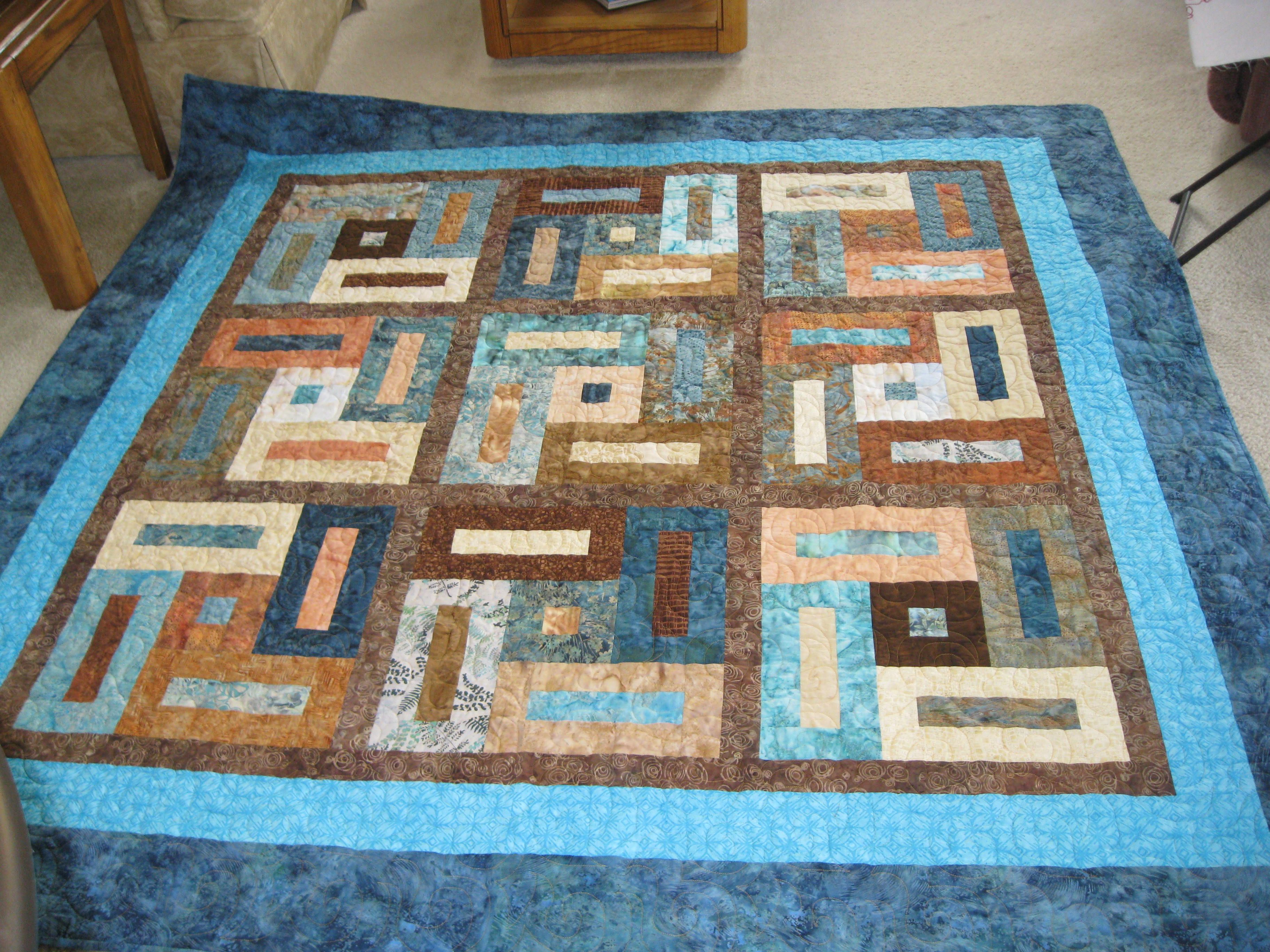 Keyhole Jelly Roll Quilt Idea Quilt Patterns Pinterest