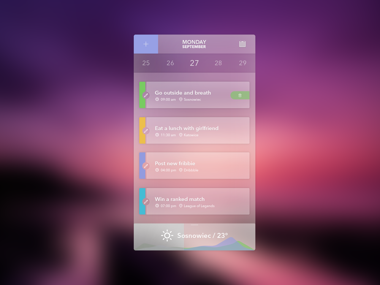 Transparent calendar widget psd ui pinterest calendar ui design inspiration biocorpaavc Image collections