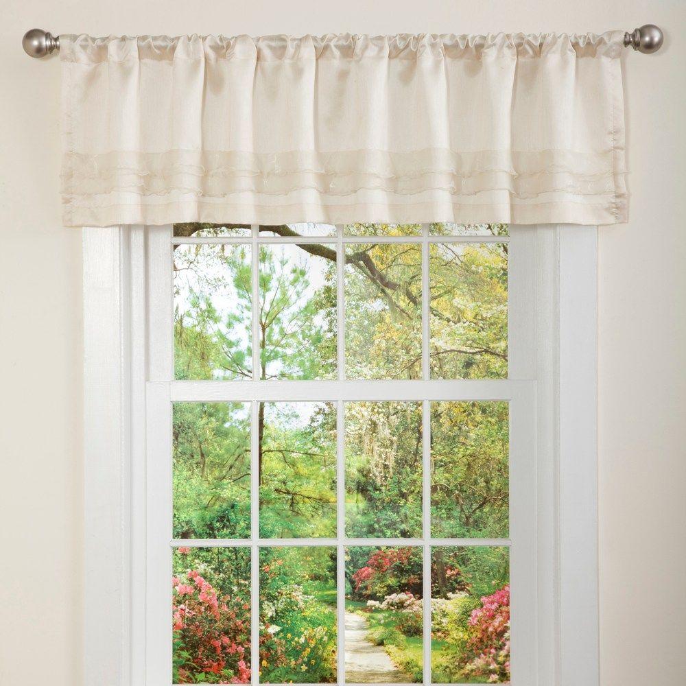 Lush Decor Paloma Ruffled Window Valance 15 X 84 Valance