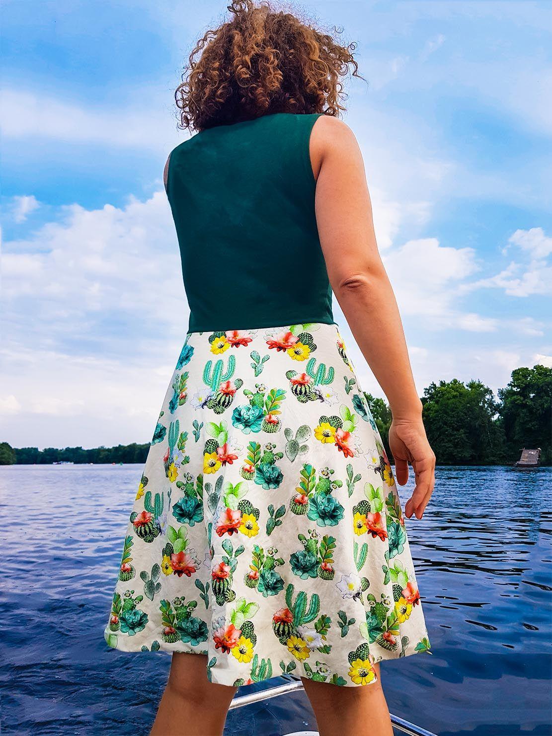 Anzeige - Kleid mit Kaktusstoff selber nähen von der ...