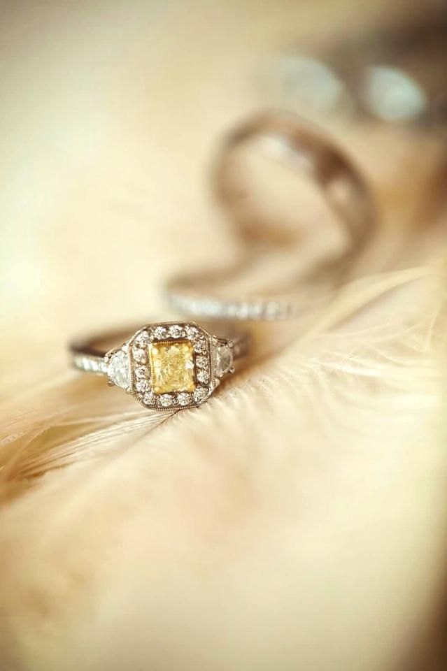 A lovely #ring with a hint of color! #BridesToBe #CoastDiamond #SheSaidYes | www.goldcasters.com
