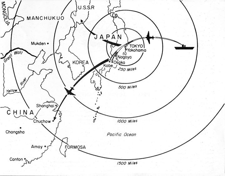 US Air Force map showing Doolittle Raid targets and planned ... Doolittle Raid Map on battle of wake island, battle of attu map, battle of iwo jima, bombing of tokyo in world war ii, solomon islands campaign, battle of peleliu, battle of manila map, midway map, battle of angaur map, battle of okinawa, battle of coral sea map, iwo jima map, allied invasion of sicily map, battle of stalingrad map, battle of midway, guadalcanal map, first battle of el alamein map, doolittle b-25 wreckage, doolittle mission, battle of the java sea map, battle of saipan, attack on pearl harbor, battle of tarawa, naval battle of guadalcanal, ted w. lawson, battle of leyte gulf, d-day map, pacific war, battle of the coral sea, battle for henderson field map, guadalcanal campaign, allied invasion of italy map, thirty seconds over tokyo, tokyo map, battle of the philippine sea, battle of leyte gulf map, siege of sevastopol map, doolittle raiders, atomic bombings of hiroshima and nagasaki,