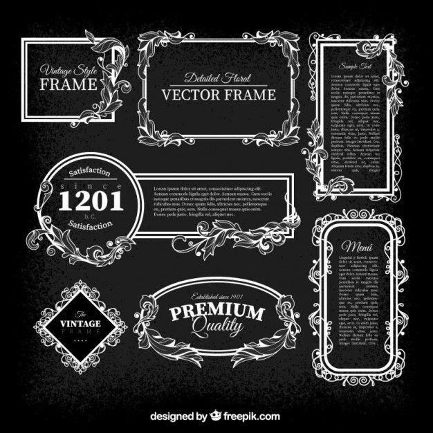 Download Vintage Frames Pack For Free Vector Free Vintage Frames Frame