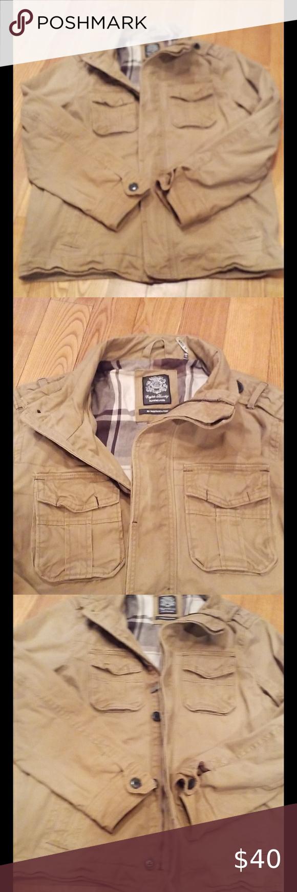 Mens English Laundry Jacket Size L Laundry Jackets English Laundry Khaki Color [ 1740 x 580 Pixel ]