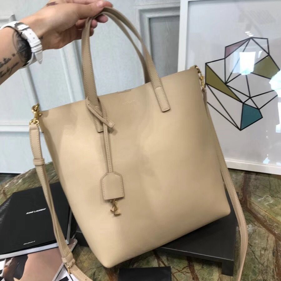 Saint Laurent Shopping Toy Bag in Calf Leather 498612 Beige 2018 ... 1f03e56045915