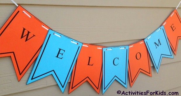Printable Welcome Banner Template First Day Of School Back To