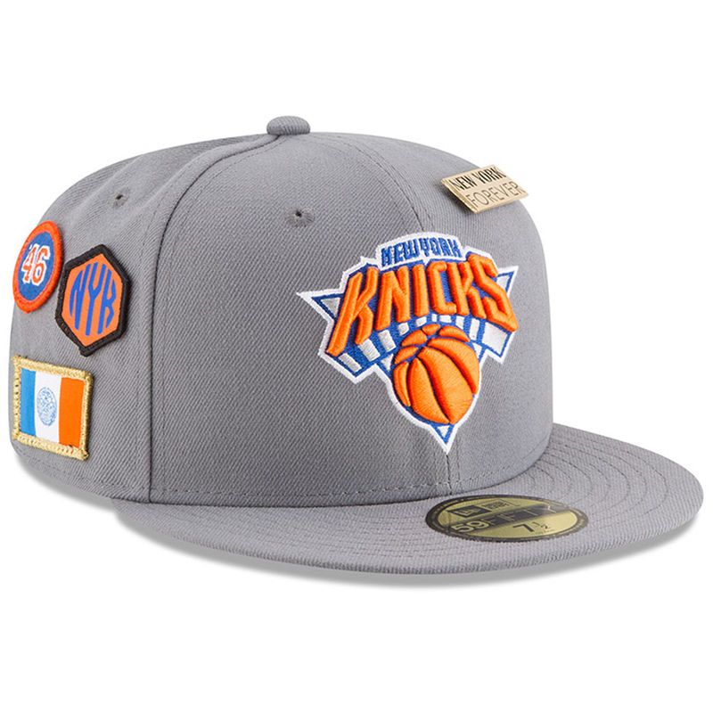 innovative design aab1d aa411 New York Knicks New Era 2018 Draft 59FIFTY Fitted Hat – Gray