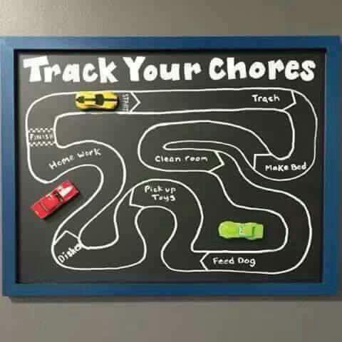cars potty chart