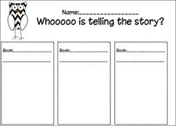 Whoooo Is Telling the Story Worksheet | Reading: Point of View ...