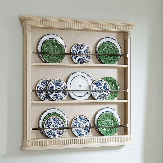 Elegance Wooden Plate Rack Display