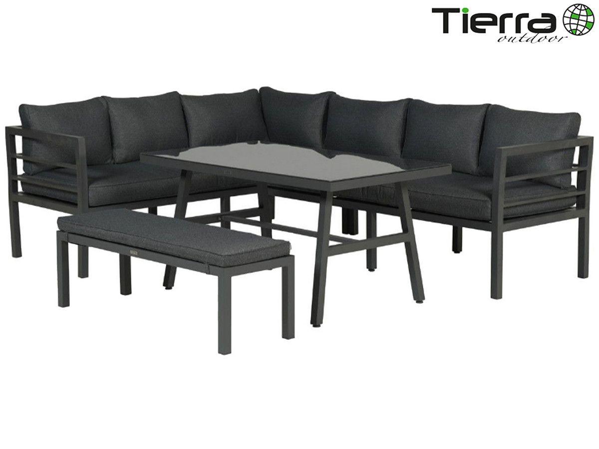 50 Korting Tierra Outdoor Lesmo Loungeset Bij Ibood In 2020 Tafel Set Grijze Kussens Tuinkussens
